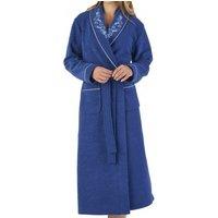 Elegant Embroidered Boucle Fleece Wrap Housecoat