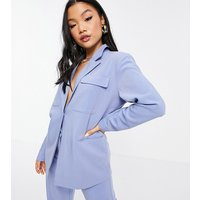 4th + Reckless Petite oversized blazer in blue