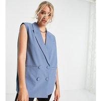 4th & Reckless Tall sleeveless blazer in blue