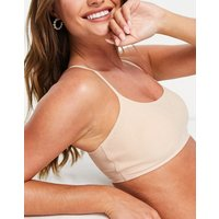 Abercrombie & Fitch seamless scoop bralette co-ord in brown-Neutral