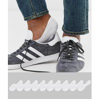 ASOS DESIGN 10 pack invisible liner sock in white save