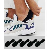 ASOS DESIGN 5 pack invisible liner sock in black save
