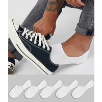 ASOS DESIGN 5 pack invisible liner sock in white save