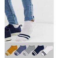 ASOS DESIGN 5 pack trainer socks save-Multi