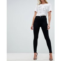 ASOS DESIGN high rise 'sculpt me' premium jeans in clean black