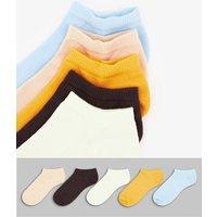 ASOS DESIGN mutlicoloured trainer socks 5 pack-Multi