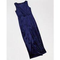 Closet draped wrap dress-Navy