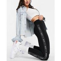 DKNY 7/8 logo taped leggings in black