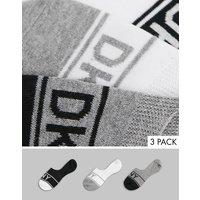 DKNY Ava 3 pack invisable socks in white