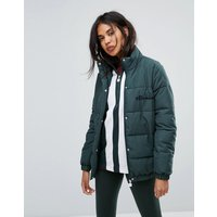 Ellesse Padded Jacket With High Neck-Green