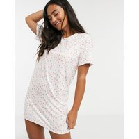 In The Style x Jac Jossa smudged polka dot night dress in white multi