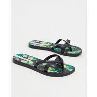 Ipanema fruit print flip flops-Black