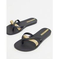 Ipanema metallic flip flops-Black
