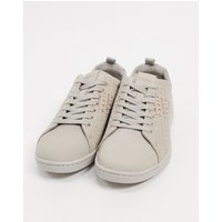 Lacoste carnaby leather trainers in grey