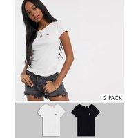 Levi's 2 pack t-shirt in black & white-Multi