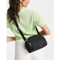 Mango multi compartment cross body bag with zip detail in black