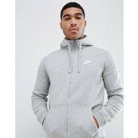 Nike – Futura – Graue Kapuzenjacke mit Reißverschluss und Logo, 804389-063