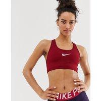 Nike Training Swoosh Bra In Red