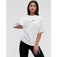 Nike White And Rose Gold France Swoosh T-Shirt