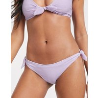 & Other Stories crinkle tie-side bikini briefs in lilac-Purple