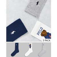 Polo Ralph Lauren 3 pack socks in multi