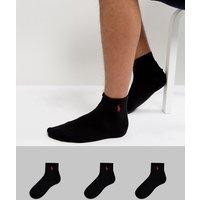 Polo Ralph Lauren 3 pack sport socks in black