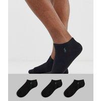 Polo Ralph Lauren 3 pack trainer socks in black