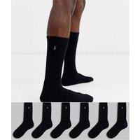 Polo Ralph Lauren 6 pack socks in black