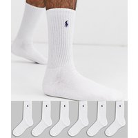 Polo Ralph Lauren 6 pack socks in white