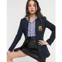 Polo Ralph Lauren blazer with logo crest-Navy