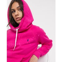 Polo Ralph Lauren bleach effect hoodie in pink