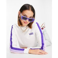 Vans cropped purple rainbow long sleeve top