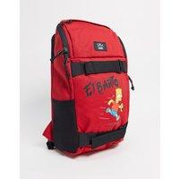 Vans X The Simpsons El Barto Obstacle skate backpack in red