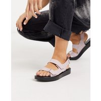 Who What Wear Axel flatform sandals in lilac croc-Purple