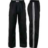 Blitz Adult Classic Polycotton Full Contact Trousers - Black / White - 3/160cm