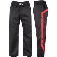 Blitz Adult Elite Full Contact Trousers - Black / Red - 3/160cm