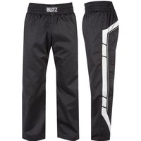 Blitz Adult Elite Full Contact Trousers - Black / White - 3/160cm