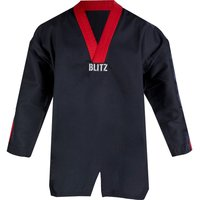 Blitz Adult Classic Freestyle Top - Black / Red - 4/170cm