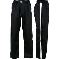 Blitz Adult Classic Polycotton Full Contact Trousers - Black / White - 4/170cm