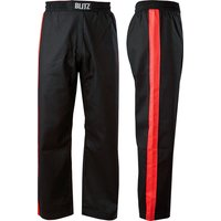 Blitz Adult Club Full Contact Trousers - Black / Red - 3/160cm