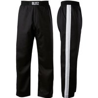 Blitz Adult Club Full Contact Trousers - Black / White - 3/160cm