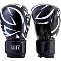 Blitz Muay Thai Boxing Gloves - Black - 14oz