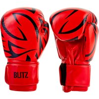 Blitz Muay Thai Boxing Gloves - Red - 14oz