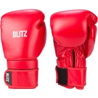 Blitz Omega Boxing Gloves - Red - 14oz