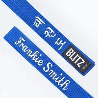 Image of Blitz Personalised Student Belt - Essential Korean