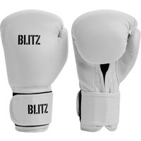 Blitz Training Boxing Gloves - White - 10oz