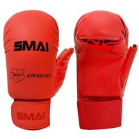 Image of SMAI WKF Approved Gloves With Thumb - Red