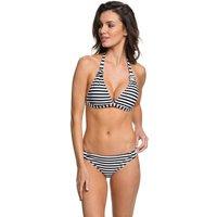 Bademode - Roxy Essentials Halter 70'S Bikini Set bright white basic stripe  - Onlineshop Blue Tomato