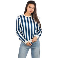 Dedicated Ystad Big Stripes Sweater white