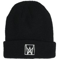 Welcome Icon Embroidered Beanie black white